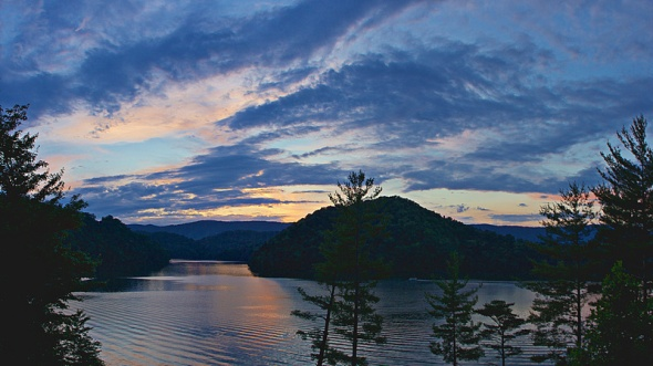 Sunset Pano  - Watauga Lake