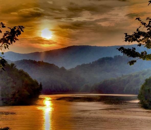 Sunset and Haze